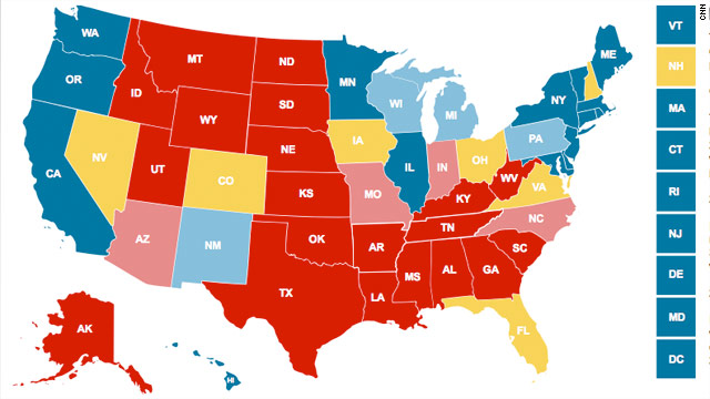 Most recent Presidential election poll results
