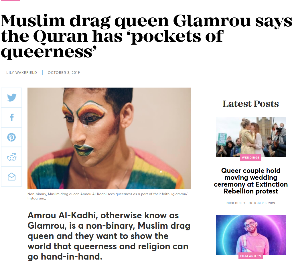 Name:  Screenshot_2019-10-08 Muslim drag queen Glamrou says the Quran has 'pockets of queerness'.png